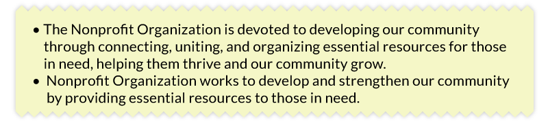 Which nonprofit mission statement says more with fewer words?