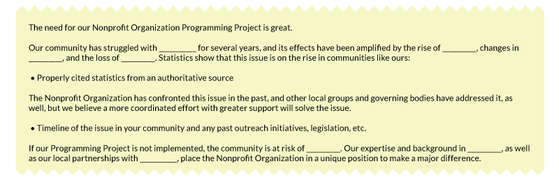 Check Out This Template Statement Of Need For Your Grant Proposal.