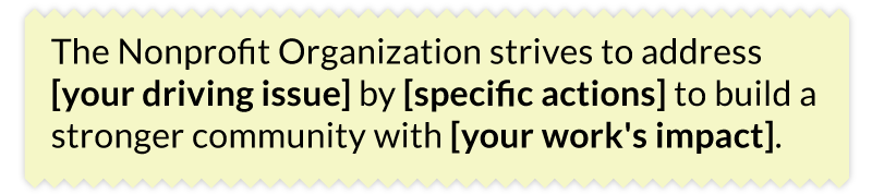 Understanding their core purpose helps when writing a nonprofit mission statement.