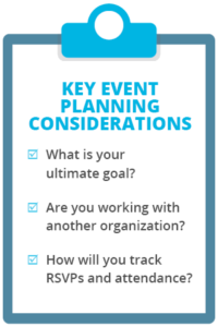 Event planning is an important element of church management.