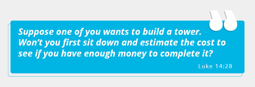Solid financial backing is necessary for starting a church.