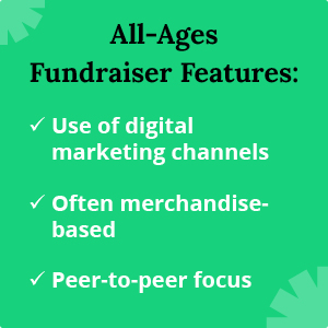 These are some characteristics of the most popular school fundraising ideas for all ages.
