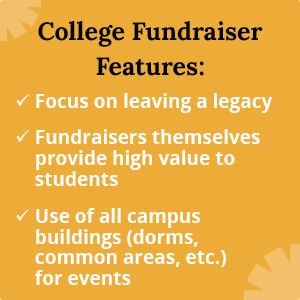 These are common features of school fundraising ideas for colleges.