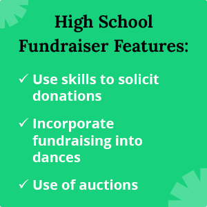 These are features of popular high school fundraising ideas.